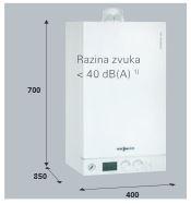 kondenzacijski uređaj Vitodens 100 - razina zvuka manja od 40 dB